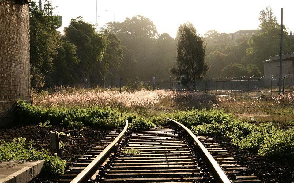 abandoned railway tracks
