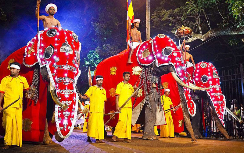 SriLankan perahera enriched with traditional value